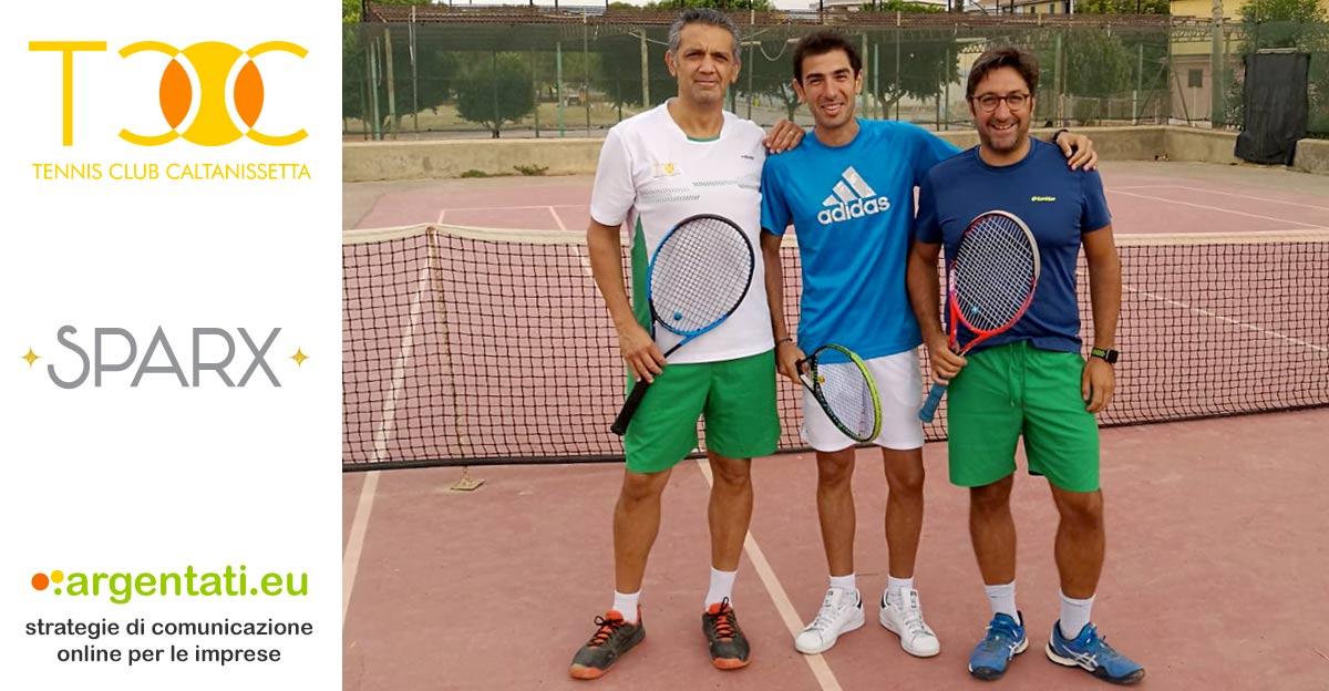 Serie D3, squadra A. Da sinistra, Nino Argentati, Salvatore Milano e Gianluca Nicosia