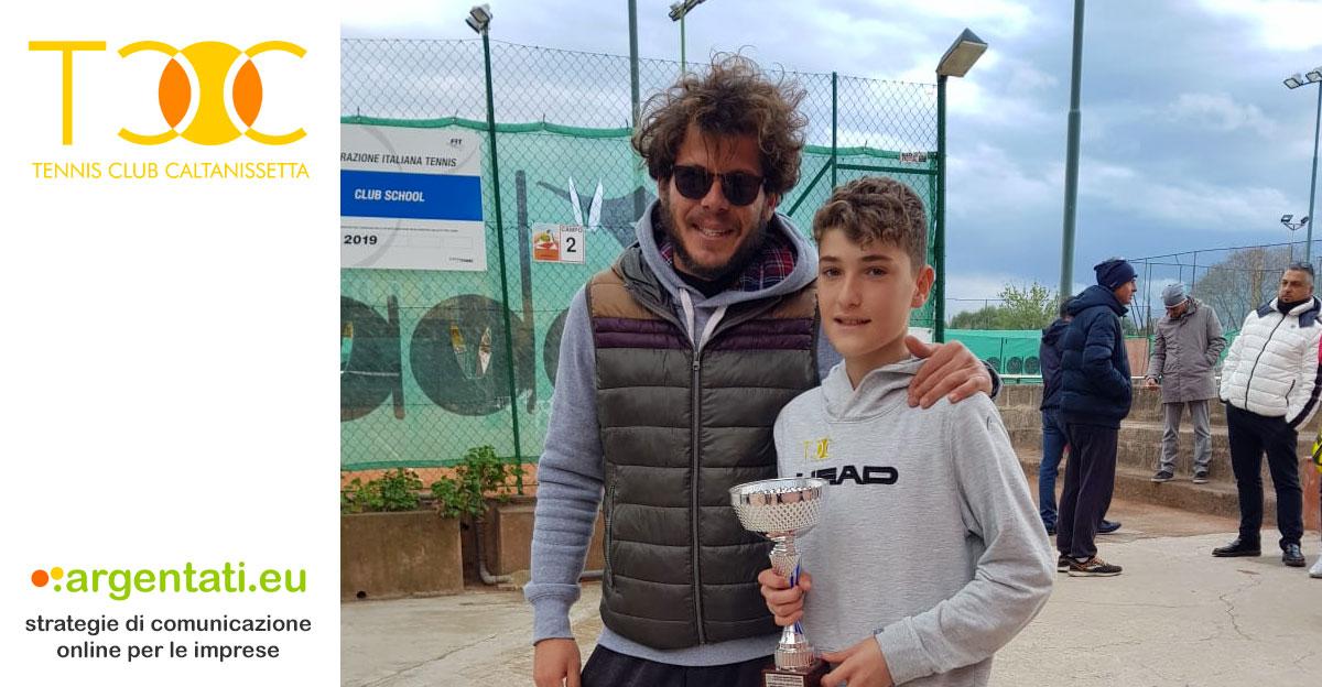 Marco Colore si aggiudica il torneo Under 14 regionale, con la spinta emotiva del maestro Federico Dottore.