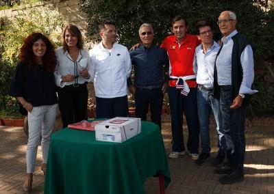 Da sinistra Concetta Callerame, Anna Simone, Claudio Miccichè, Carmelo Nastasi, Giorgio Giordano, Danilo Greco e il presidente Michele Trobia