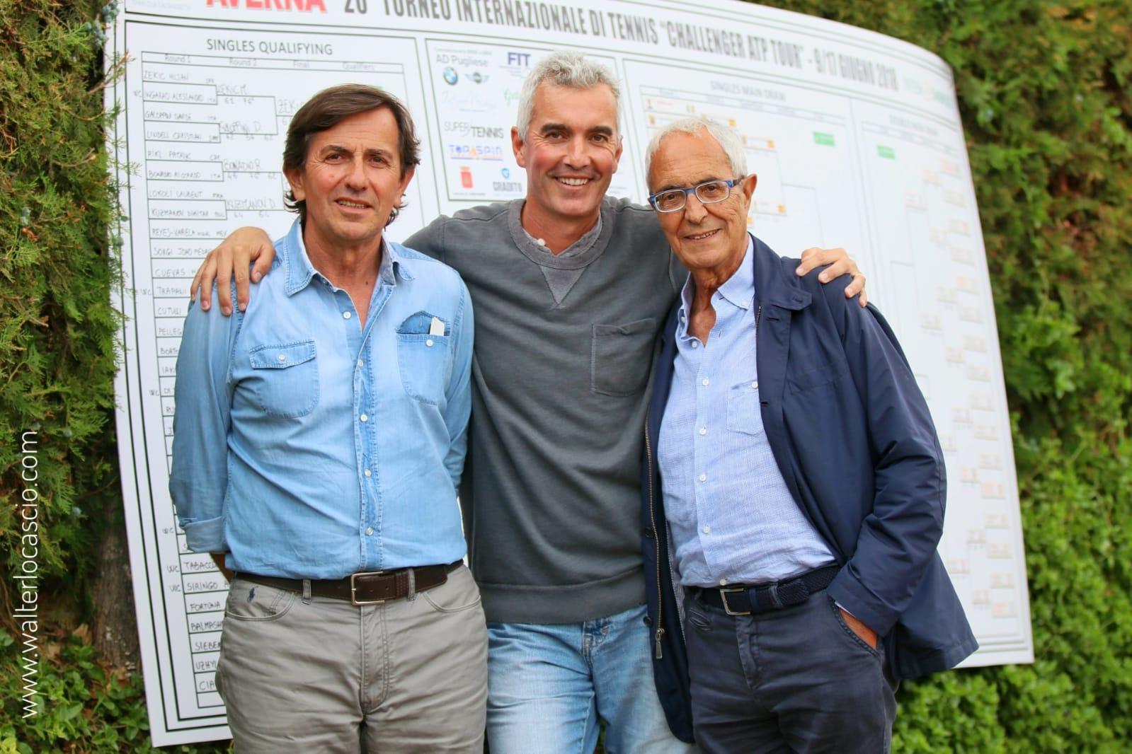 Da sinistra, Giordano (direttore Torneo, Sanguinetti e Trobia (Presidente)