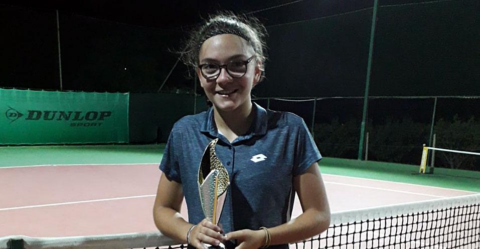 Federica Vancheri vince il torneo di quarta categoria di Serradifalco.
