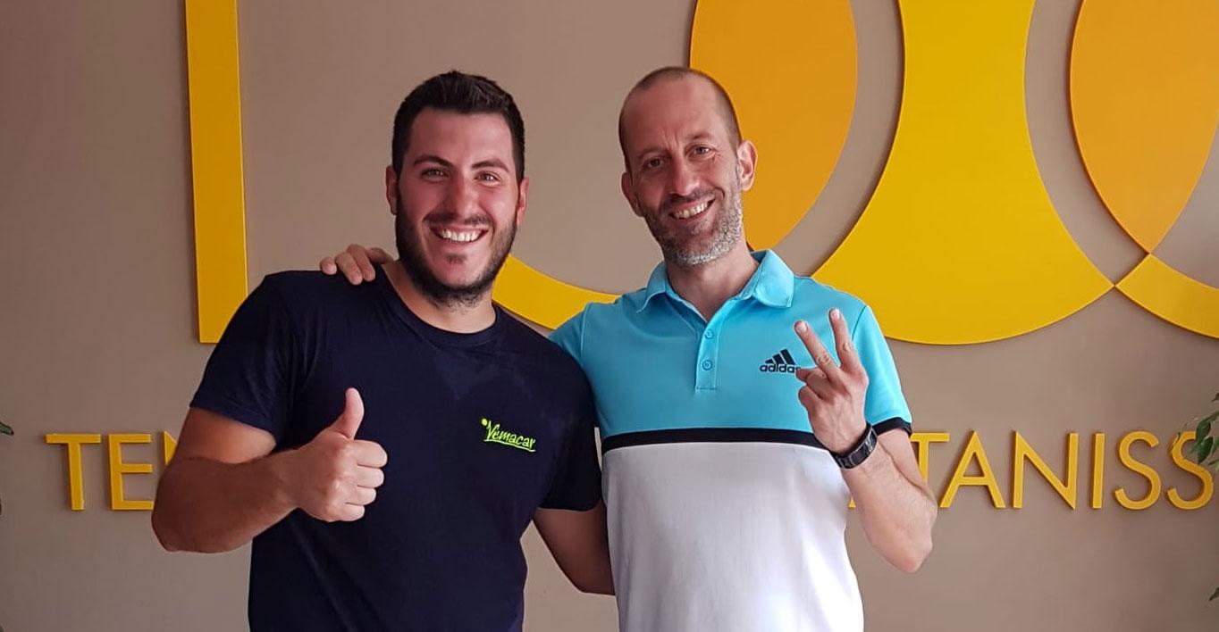 Luca Coniglio (a sinistra) e Marco Pirrello