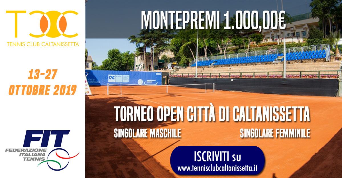 Open Città di Caltanissetta, Montepremi 1.000,00€