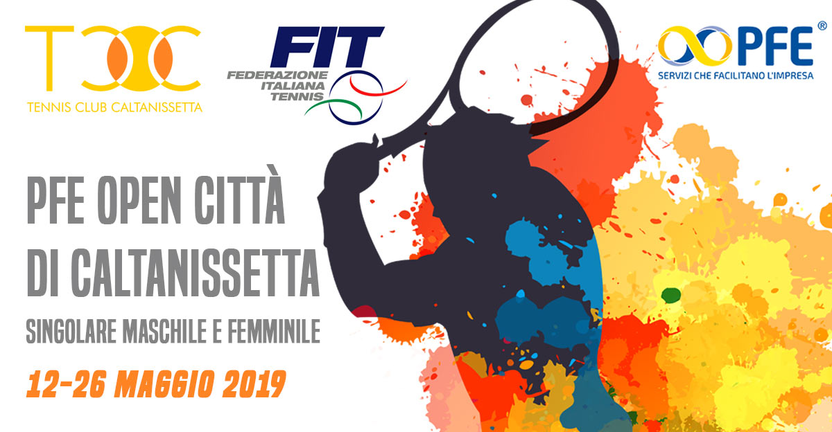 Aperte le iscrizioni per il Torneo PFE Open Città di Caltanissetta, singolari maschile e femminile.
