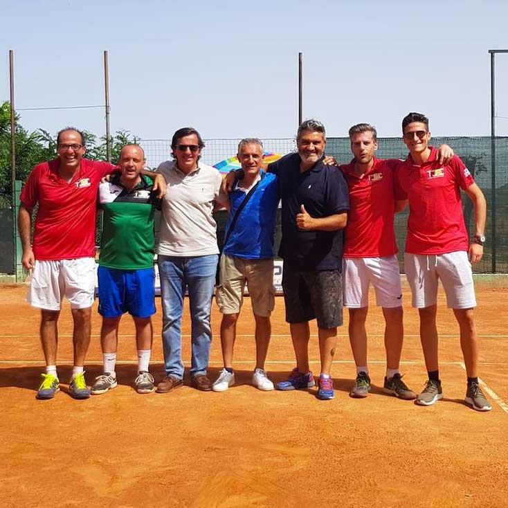 La squadra D1 tennis Club Villa Amedeo Caltanissetta
