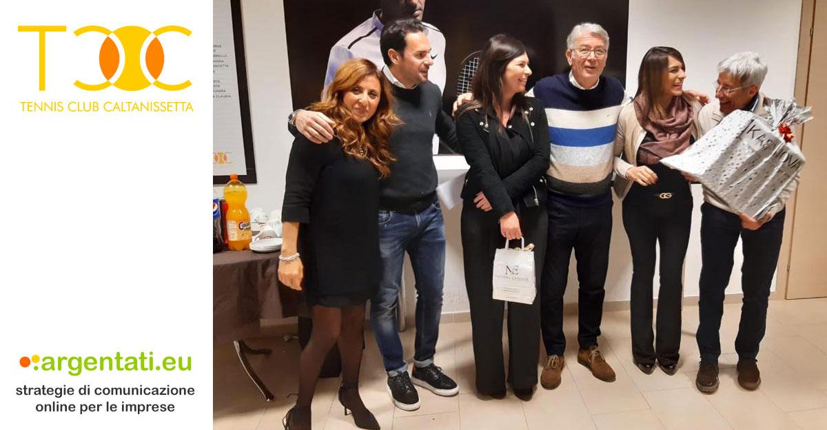 La coppia vincente Torneo di Burraco Gennaio 2020. Da sinistra Concetta Callerame, Michele Eufrate, Lavinia Modica, Aldo Palermo, Anna Simone e Pietro Stella.