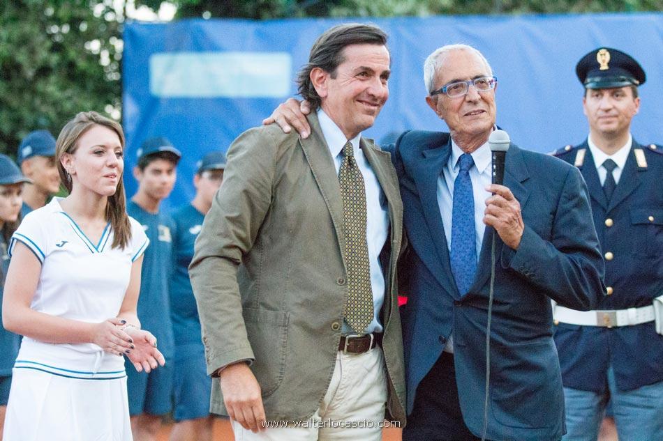 Da sinistra: Giorgio Giordano e Michele Trobia durante la premiazione per il Torneo Internazionale Challenger 2015