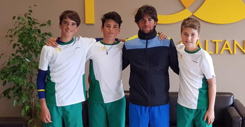 La squadra Under 14 capitanata da Davide Potenza: Da sinistra: Manuel Potenza, Cristian Potenza, Davide Potenza e Marco Colore.