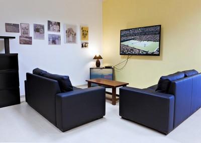 La sala Tv del Tennis Club