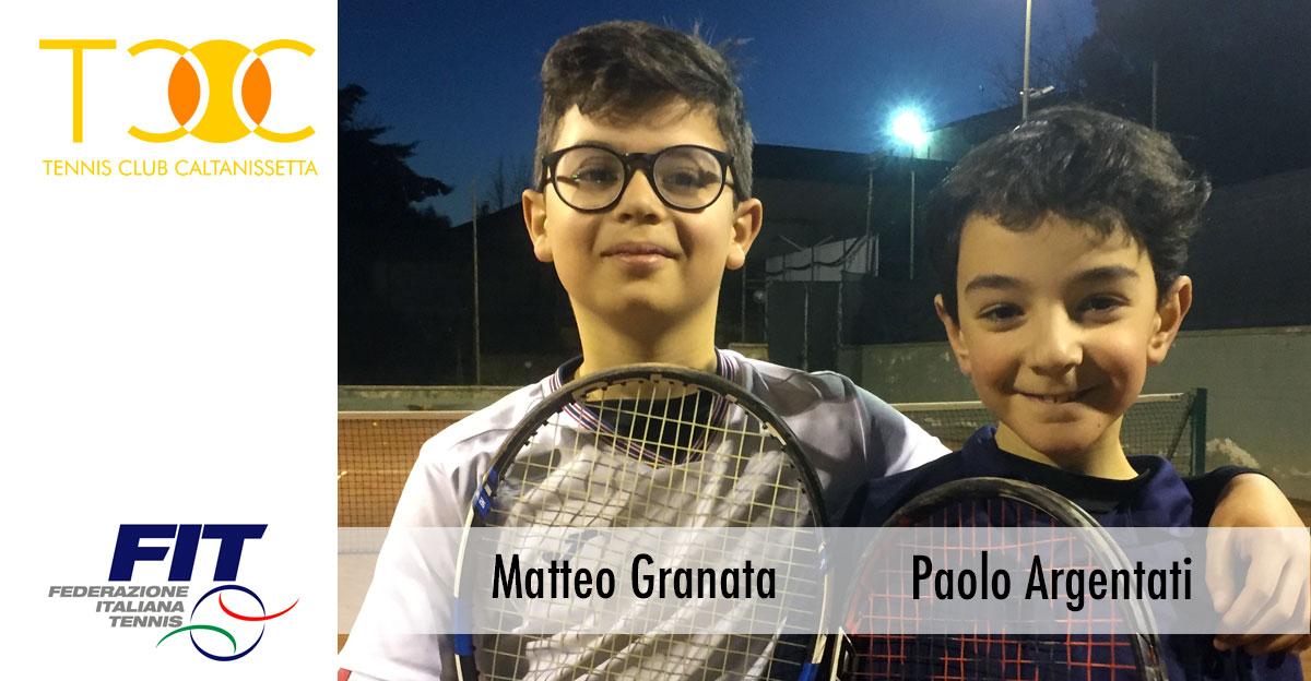 Matteo Granata e Paolo Argentati rappresenteranno il TC Villa Amedeo alla Coppa delle Provincie