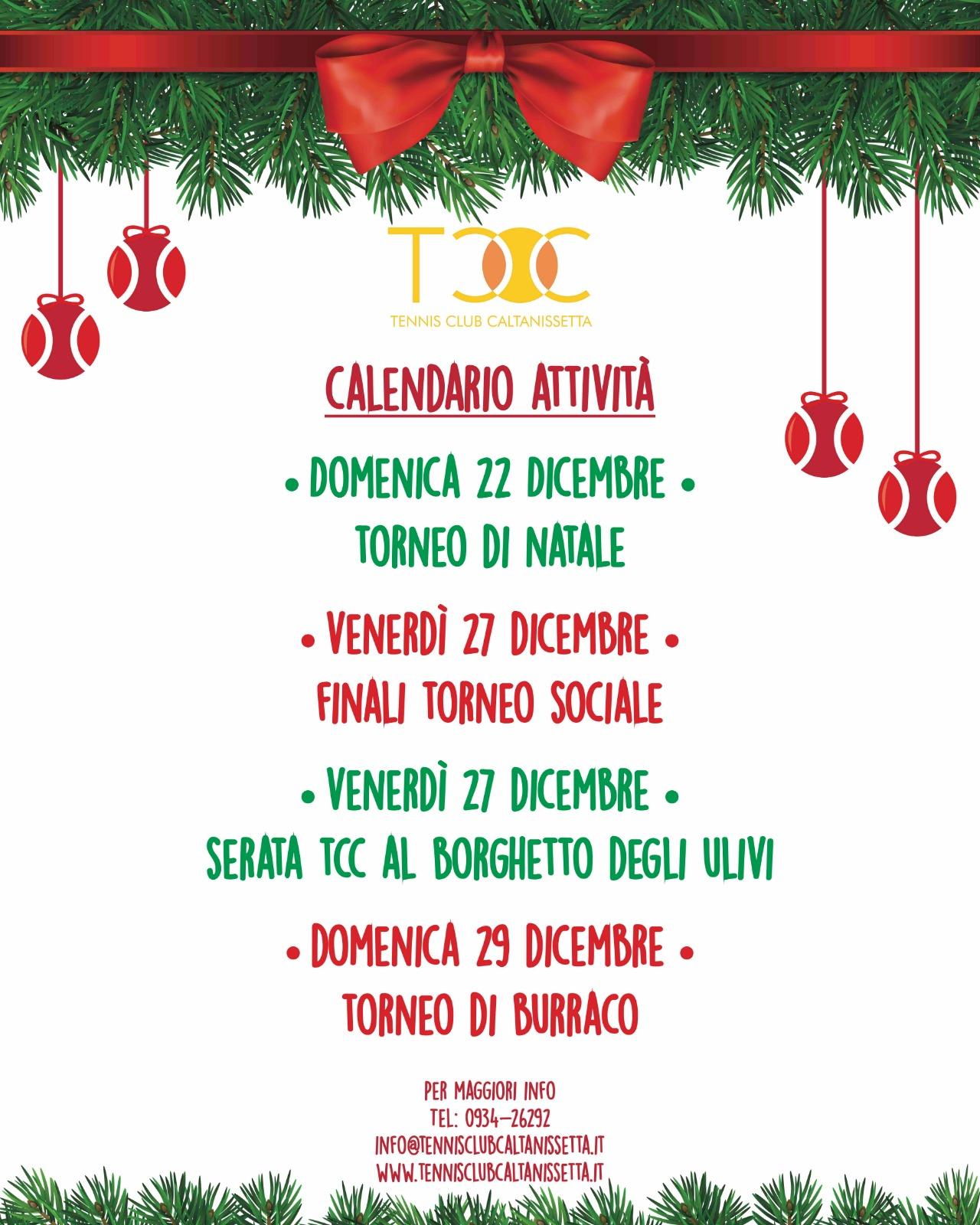 Le attività di Natale del TCC Villa Amedeo di Caltanissetta
