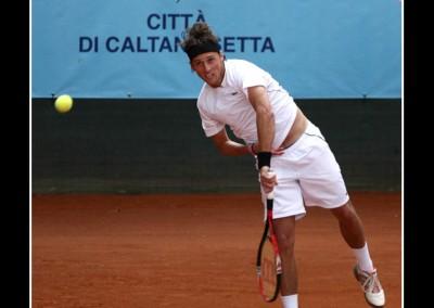 Uno dei giocatori del Torneo Internazionale Challenger 2011 a Caltanissetta