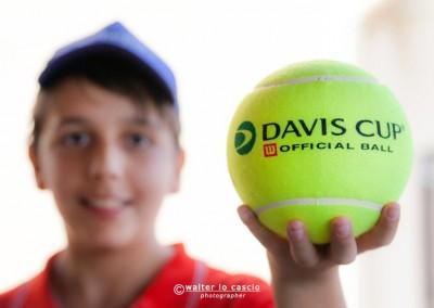 Le palline da tennis Davis Cup utilizzate durante il Torneo Internazionale Challenger 2014
