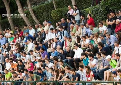 Il pubblico del Tennis Club Caltanissetta durante il Torneo Internazionale Challenger 2014