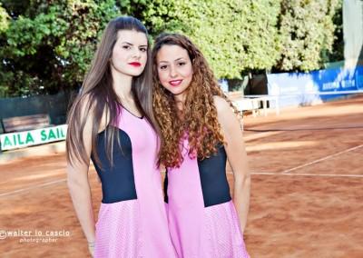Le hostess per la premiazione del giocatore, vincitore del Torneo Internazionale Challenger 2014