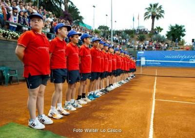 I raccattapalle del Torneo Internazionale Challenger 2014