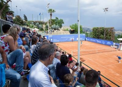 Il pubblico che assiste al Torneo Internazionale Challenger 2015