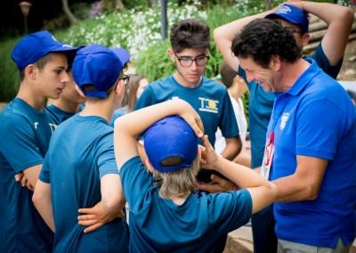 Giuseppe Cobisi e alcuni dei raccattapalle del torneo Challenger 2016