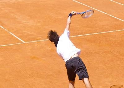 Uno dei giocatori di tennis del Torneo Internazionale Challenger 2012