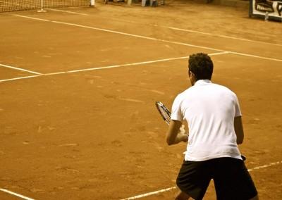 Uno dei tennisti in gara del Torneo Internazionale Challenger 2012