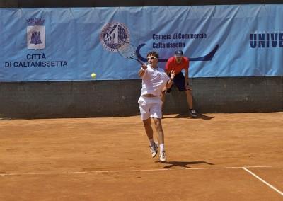 Uno dei tennisti giocatori del Torneo Internazionale Challenger 2012