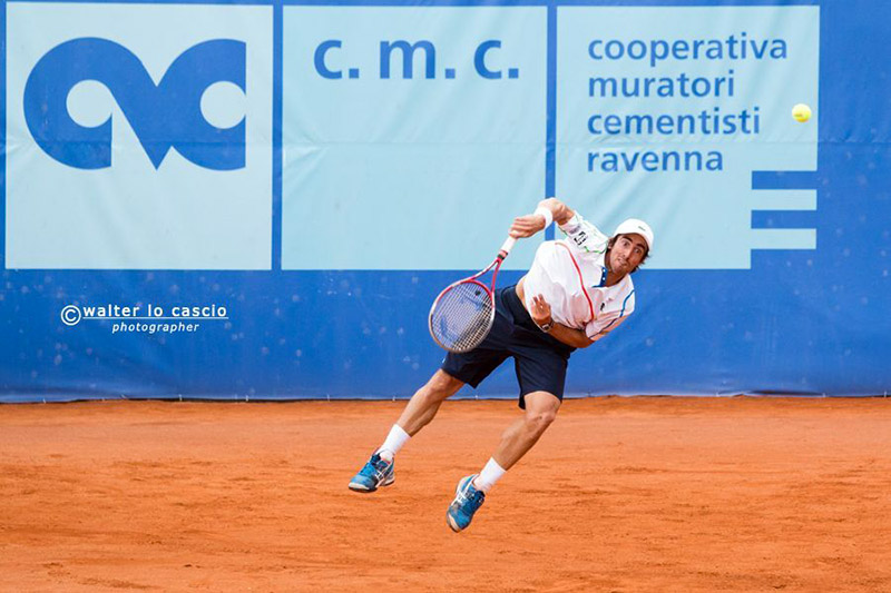Uno dei tennisti che ha partecipato al Torneo internazionale di tennis -a Caltanissetta