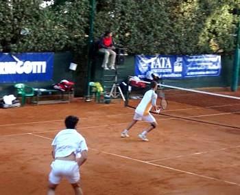La coppia di tennisti al Torneo Internazionale di Tennis Future 2005