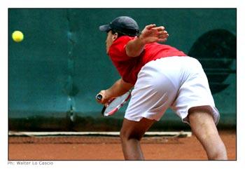 Uno dei giocatori del Torneo Internazionale di Tennis Future 2008