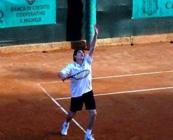 Uno dei giocatori partecipante al Torneo Internazionale di Tennis Italy 1 2003