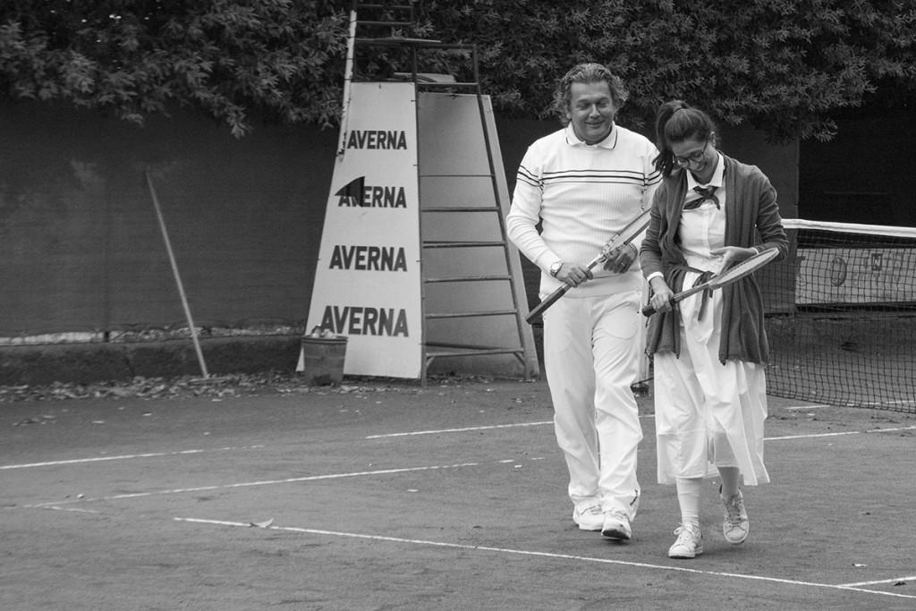 Ivano Aquilina e Corinne Pinto durante una concitata fase di gioco.