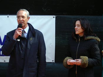 Al microfono, il Presidente del Tennis Club Caltanissetta