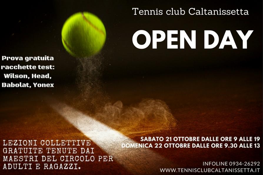 Open Day, Tennis club Caltanissetta: Sabato 21 e Domenica 22 ottobre