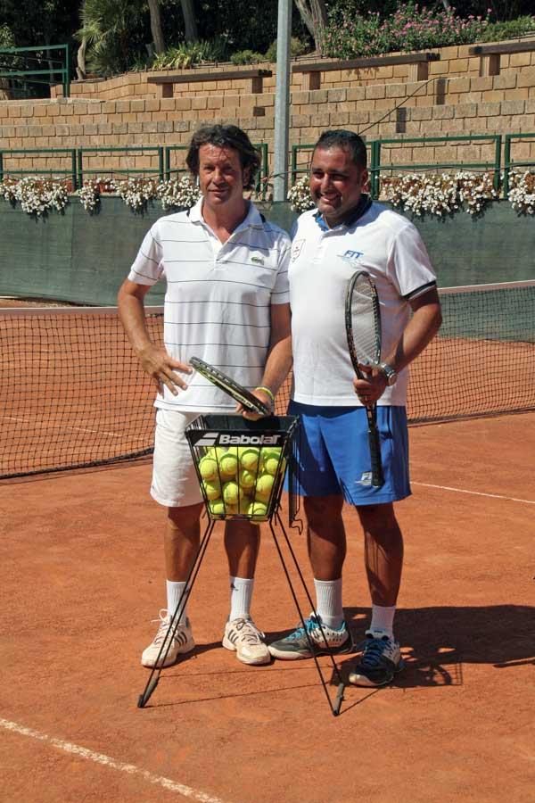Scuola di Tennis Caltanissetta - Il Responsabile Tecnico Prof. Giuseppe Cobisi ed il Direttore Tecnico Sergio Rizzo
