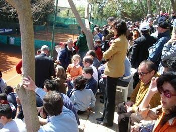Il pubblico in tribuna del Torneo Internazionale di Tennis Italy 1 2004