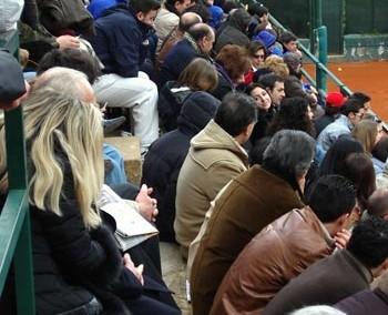 Il pubblico presente durante il Torneo Internazionale di Tennis Italy 1 2003