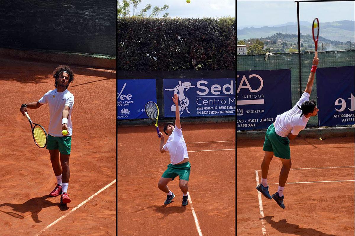 Alcuni dei nostri ragazzi della serie C. Da sinistra: Luca Potenza, Totò Lacagnina, Marco Catini