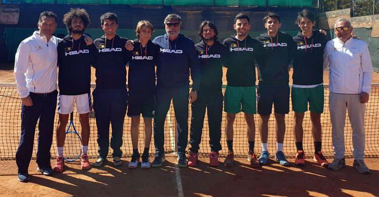La squadra di Serie C del TCC Villa Amedeo - Caltanissetta.