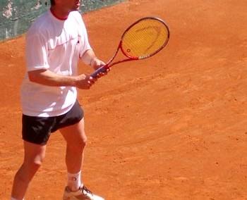 Uno dei giocatori del Torneo Internazionale di Tennis Future 2005