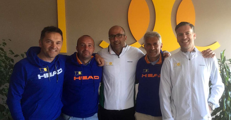 La squadra D1 del nostro TC. Da sinistra Claudio Miccichè, Angelo Traina, Rosario Carrara, Gaetano Blanda, Marco Bosco.