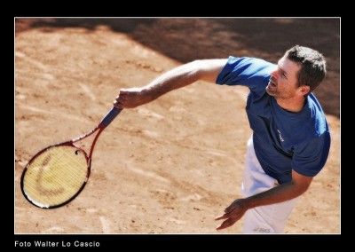 Galvani, tennista in gara al Torneo Internazionale Challenger 2011 a Caltanissetta