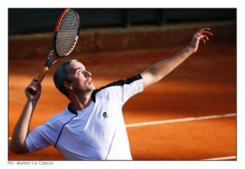 Davide Sanguinetti al Torneo Internazionale di Tennis Future 2008