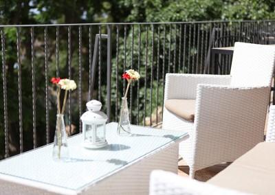 Il terrazzo del Tennis Club Caltanissetta