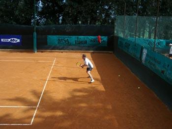 Uno dei giocatori che ha partecipato al Torneo Internazionale di Tennis Italy 1 2004
