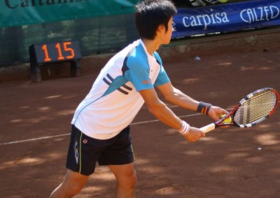 Uno dei giocatori in gara del Torneo Internazionale Challenger 2010
