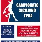 Torneo TPRA FIT, TC Caltanissetta dal 27 al 29 ottobre