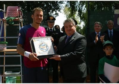 Premiazione del vincitore del Torneo Internazionale Challenger 2011